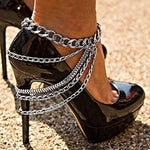 New Tassel Anklet Alloy Footwear Street Punk Style Multi-layer Feet Accessory Anklet