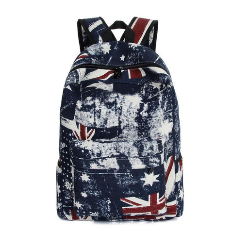 Union Jack Canvas Schoolbag Travel Bags