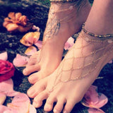 Women Reticular Gold Anklet Handmade Beach Foot Jewelry