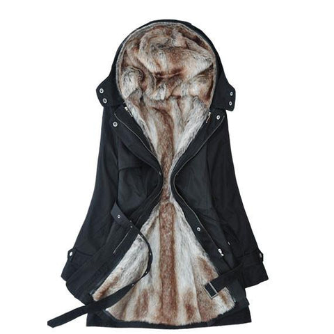 Nice Fashion Plush Liner Thick Cotton Windbreaker/Jacket/Coat - wikoco.com