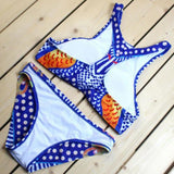 Split Swimsuit Unique Soul Love Peacock Print Bikini