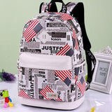 Fresh Cartoon Eiffel Tower School Rucksack Cute Canvas School Backpack