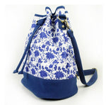 Original Blue and White Travel Bag Bucket Bag Backpack