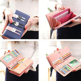 Cute Long Cat Zipper Wallet Lady Purse Kitten Clutch Bag