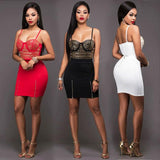 Punk Unique Rivets Skintight Braces Skirt Punk Bandage Tube Women Strapless Dress