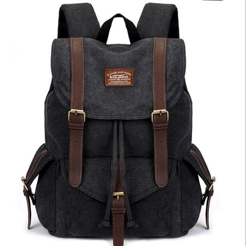 Retro Camping Bag Multi-function Large Hiking Travel School Canvas Backpacks