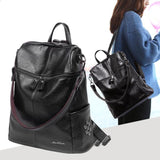 Unique Lichee Pattern Multifunction Rivets Leisure Girl's PU Square Laptop School Backpack