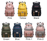 Leisure USB Large Capacity Computer Backpack Outdoor Backpack  Student Contrast Stitching Bag - wikoco