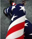 Sexy Stretch US American Flag Tights  Leggings