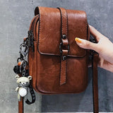 Retro Square Single Buckle Lady Leisure Messenger Bag Shoulder Bag