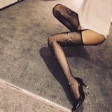 Sexy Fishnet Garter Pantyhose Hot Drilling Lingerie Stockings - wikoco
