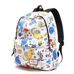 Student Backpack-Cute Dolphin Cartoon Cat School Bag Kitten Tortoise Animal Waterproof Polyester