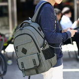 Leisure Student Bag Travel Outdoor Computer Backpack Sport USB Oxford Waterproof Backpack