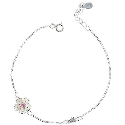 Sweet Flowers Girlfriends Gift Accessories Women Bracelet Personality Cherry Bracelet - wikoco
