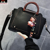 Elegant Large New Women Handbag Fashion Bear Decor Shoulder Bag