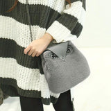 Cute Wool Owl Shoulder Bag Chain Messenger Bag - wikoco.com