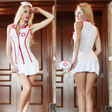 Sexy Women's Cosplay Deep-vee Nurse Uniform Lingerie