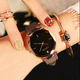 Leisure Rhinestone Belt Waterproof Shining Ladies Quartz Watch