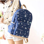 Fresh Anchor Rucksack New Ocean Boat High School Canvas Backpack - wikoco.com