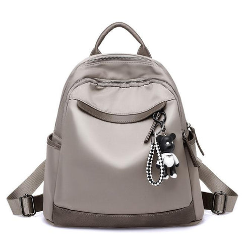 Leisure Oxford Grey Nylon Travel Multi-function School Backpack