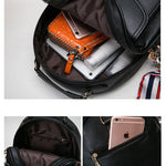 Fresh Bow College Multifunction Bag Front Belt Handbag Metal Lock Shoulder Bag Backpack