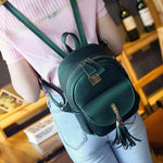 Fashion Tassels Elegant Bag Front Flap Pocket School Backpacks