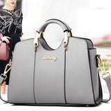 Elegant Girl's PU Leather Square Tote Bag Shoulder Bag Summer Handbag