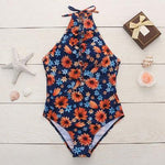 Swimsuit Siamese Bandage Fresh Small Daisy Bikini One-piece Bathingsuit
