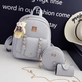 Lovely Gift Circular Mini Shoulder Bag Pink PU School Backpack Girl's Small Stereo Flowers Backpack