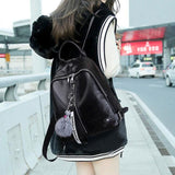 Leisure Black Vertical Zipper School Outdoor Sports Backpack