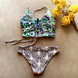 Two-sided Bikini Pineapple Printing Sexy Swimsuit