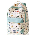 Leisure Zoo High School Rucksack Animal Paradise College Canvas Backpack - wikoco.com