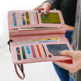 Retro PU Love Freedom Letters Zipper Purse Cellphone  Girl's Square Wallet Clutch Bag
