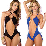 Sexy Elasticity Club Pole Dance Costume Women  Conjoined Sling Intimate Lingerie