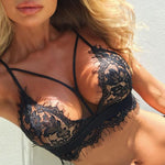 Sexy Leaves Lace Bra Women Black White Intimate Lingerie