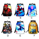 Cute Spider Man Super Hero Minions Cartoon School Student Children's Backpack