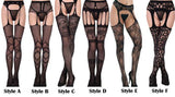 Sexy Perspective Sling Net Stockings Lace Women's Lingerie
