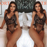 Sexy Black Leaves Perspective Eyelash Lace Women Lingerie