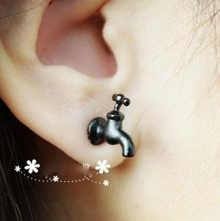 Unique 3D Taps Earrings Studs