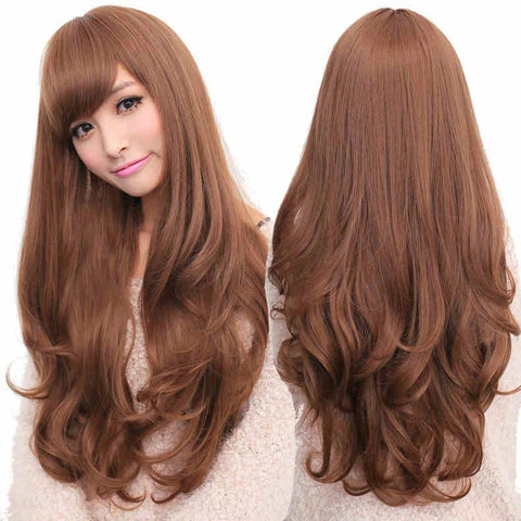 Lady Woman Adorable Long Wavy Wigs 3 Colors Available - wikoco.com