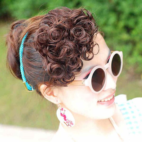 Fashion Small Spring Curl Bang Hair Weft - wikoco.com
