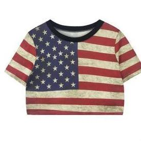 Retro Sexy Leisure Tops & American Flag Shirt - wikoco.com