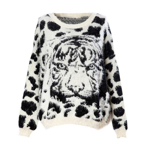 Soft Furry Tiger Pattern Leopard Sweaters