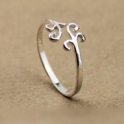 Pretty Simple Cloud Silver Ring - wikoco.com