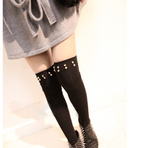 Girls Step Foot Rivet Tights Highs/Stockings - wikoco.com