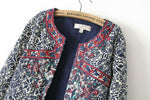 Retro Folk Printed Blue and White Porcelain Cotton Jacket Coat - wikoco.com