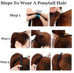Long Lasting Pear Wavy Ponytail Hair - wikoco.com