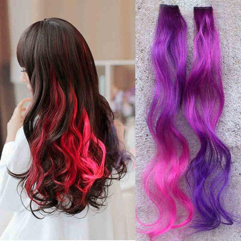 Magic Wavy Gradient Clips Hair Extensions - wikoco.com