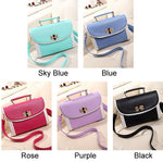 Solid Lace Glossy Casual Shoulder Bags