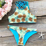 Pineapple Printing Bikini Set Sexy Tank Swimsuit